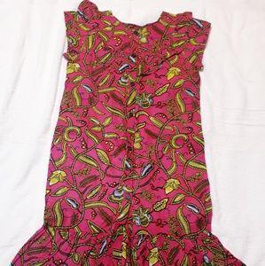 Ankara Print Dress size s with two pockets